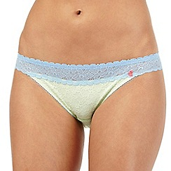 Iris & Edie - Light green lace hipster briefs