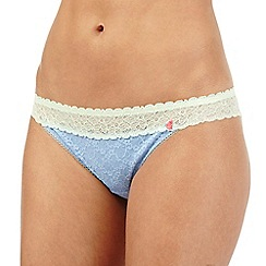 Iris & Edie - Blue lace hipster briefs