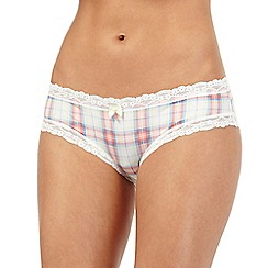 Iris & Edie - Light green checked hipster briefs