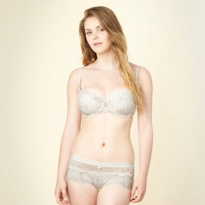 Ivory spotted microfibre t-shirt bra
