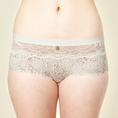 Ivory spotted microfibre shorts