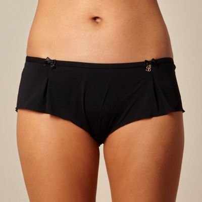 B by Ted Baker Black pleated microfibre shorts - . -