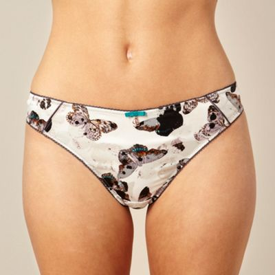 Grey butterfly printed hipster briefs