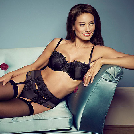 Adore Moi by Ultimo - Black +Garland+ satin thong