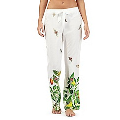 B by Ted Baker - White garden print trousers