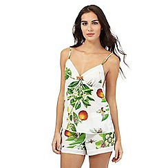 B by Ted Baker - White floral print cami
