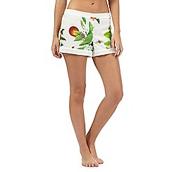 B by Ted Baker - White garden print shorts