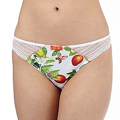 B by Ted Baker - White oranges and lemon print thong
