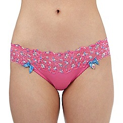 Floozie by Frost French - Bright pink lace hipster shorts