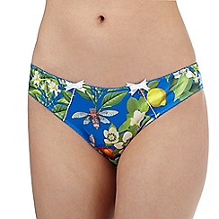 B by Ted Baker - Bright blue floral print Brazilian briefs
