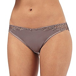 Reger by Janet Reger - Grey lace Brazilian briefs