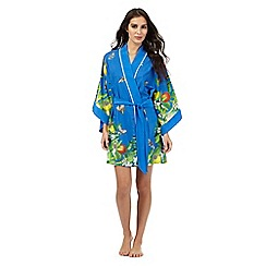 B by Ted Baker - Bright blue floral print kimono