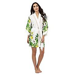 B by Ted Baker - White floral print kimono