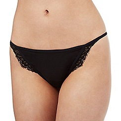 Nine by Savannah Miller - Black lace Brazilian briefs