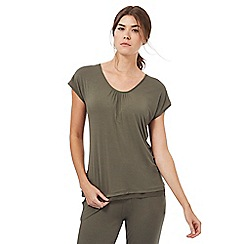 Nine by Savannah Miller - Olive green super-soft jersey pyjama top