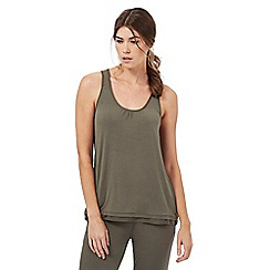 Nine by Savannah Miller - Olive green super-soft jersey pyjama vest