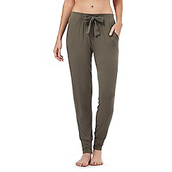 Nine by Savannah Miller - Olive green super-soft jersey pyjama bottoms