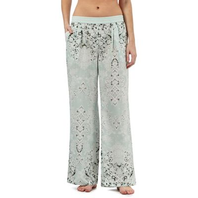 Nine by Savannah Miller Pale green luxury satin pyjama