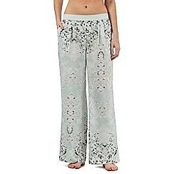 Nine by Savannah Miller - Pale green luxury satin pyjama bottoms