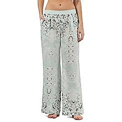 Nine by Savannah Miller - Pale green luxury satin pyjama bottoms