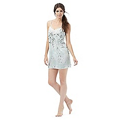 Nine by Savannah Miller - Pale green paisley print chemise