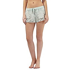 Nine by Savannah Miller - Pale green luxury satin shorts