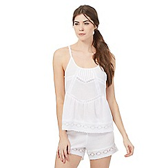 Nine by Savannah Miller - White lace cami