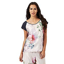 B by Ted Baker - Multi-coloured 'pure peony' floral print pyjama top