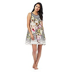 B by Ted Baker - Multi-coloured peony print sleep tee