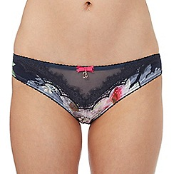 B by Ted Baker - Dark grey floral print hipster briefs