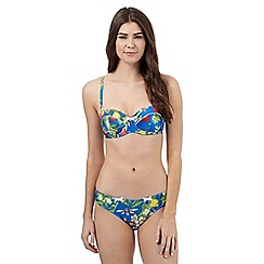 B by Ted Baker - Bright blue floral print balcony bra