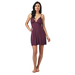 B by Ted Baker - Dark purple lace trim chemise
