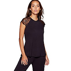 B by Ted Baker - Black lace short sleeved top