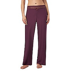 B by Ted Baker - Dark purple lace pyjama bottoms