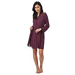B by Ted Baker - Dark purple lace trim wrap