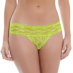 b.tempt'd - Lime 'Lace Kiss' thong