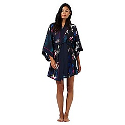 B by Ted Baker - Navy floral print 'Midnight Bloom' kimono