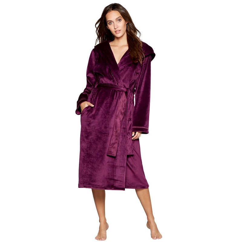 Purple Dressing Gown With Hood - Best Dress 2017