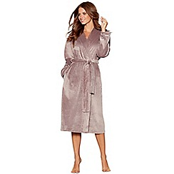 B by Ted Baker - Grey hooded long dressing gown