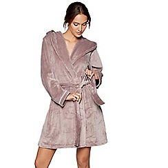 B by Ted Baker - Fawn debossed logo hooded dressing gown