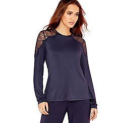 B by Ted Baker - Navy lace pyjama top