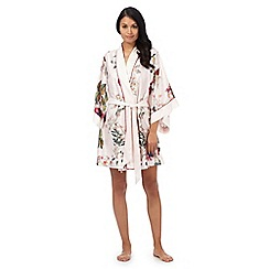B by Ted Baker - Light pink 'Opulent Bloom' floral print kimono