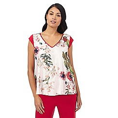 B by Ted Baker - Light pink 'Opulent Bloom' floral print short sleeved pyjama top
