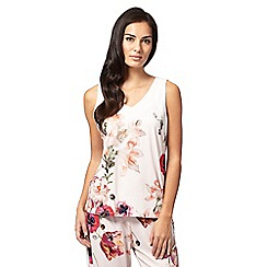 B by Ted Baker - Light pink 'Opulent Bloom' floral print pyjama top