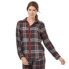 Nine by Savannah Miller - Black and red checked pyjama shirt