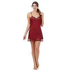 Nine by Savannah Miller - Red lace-trimmed chemise