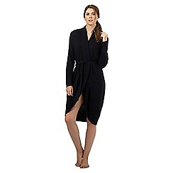Nine by Savannah Miller - Black knitted cocoon style dressing gown