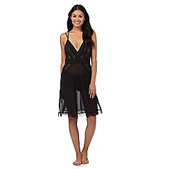 Reger by Janet Reger - Black lace trim chemise