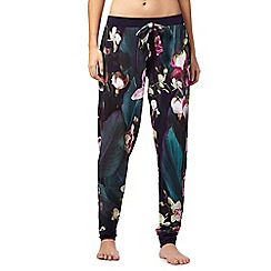 B by Ted Baker - Navy floral print 'Midnight Bloom' pyjama bottoms