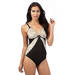 Floozie by Frost French - Cream and black lace bodysuit